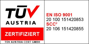 DIN EN ISO 9001 and SCC certified